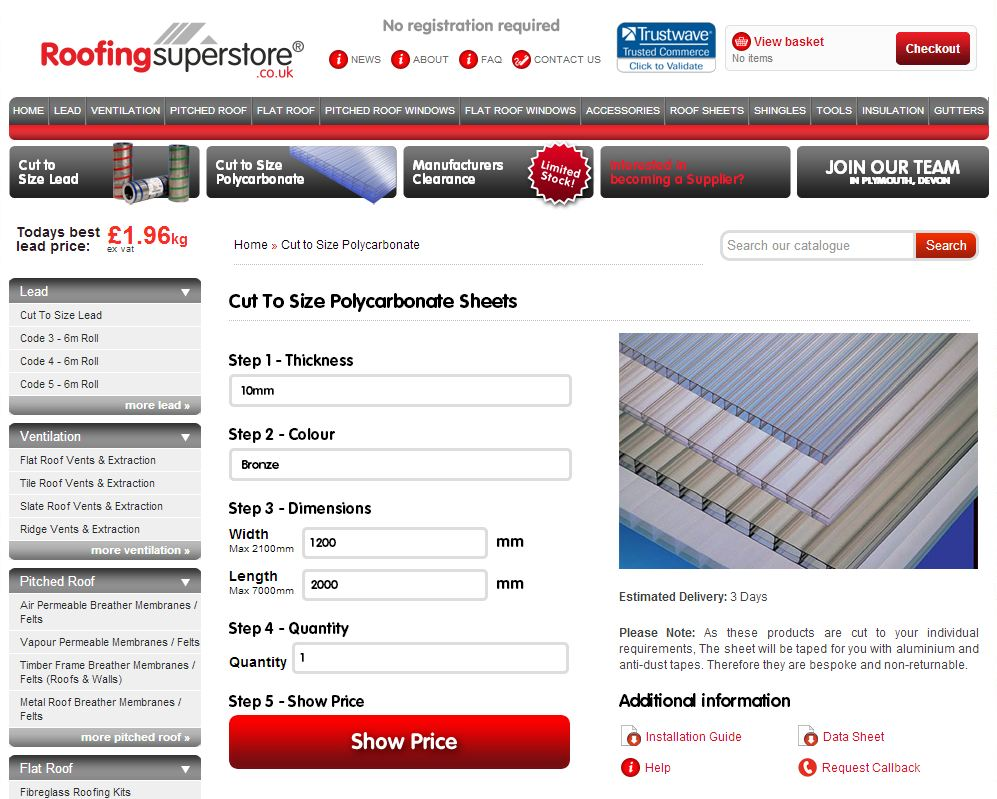 Order Your Polycarbonate Sheets Cut To Size Roofing