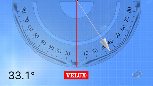 Measure your roof pitch with the VELUX mobile app