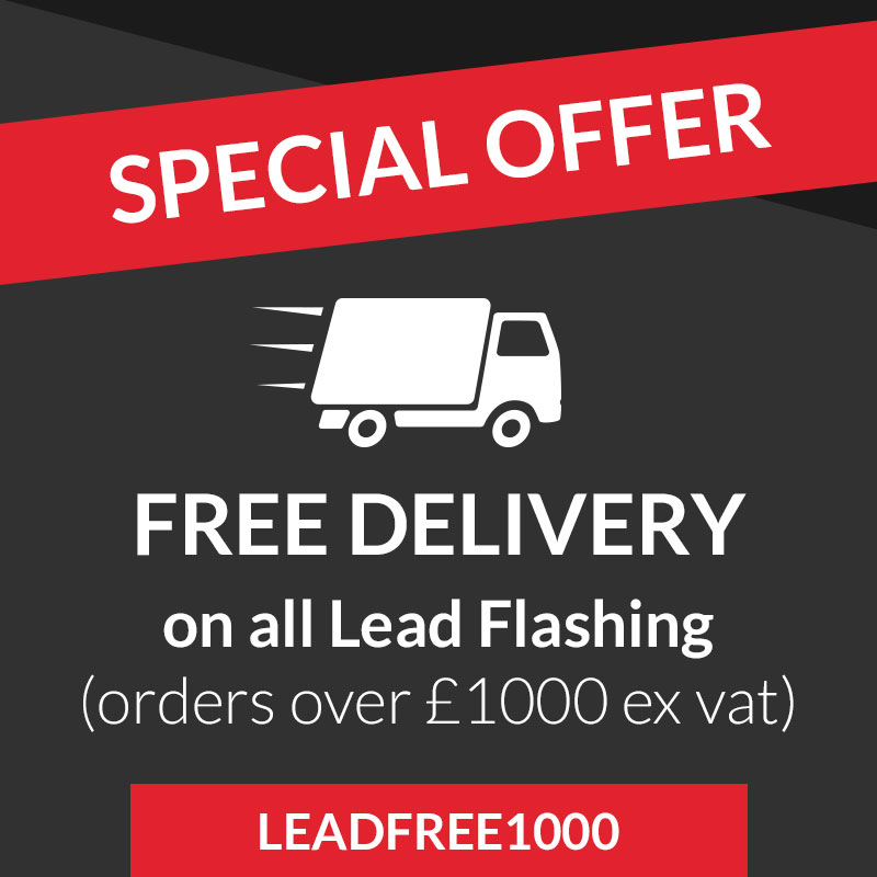 Free delivery on lead flashing
