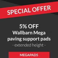 5% off all Wallbarn mega paving support pads