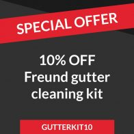 Discount on Freund gutter cleaning kit