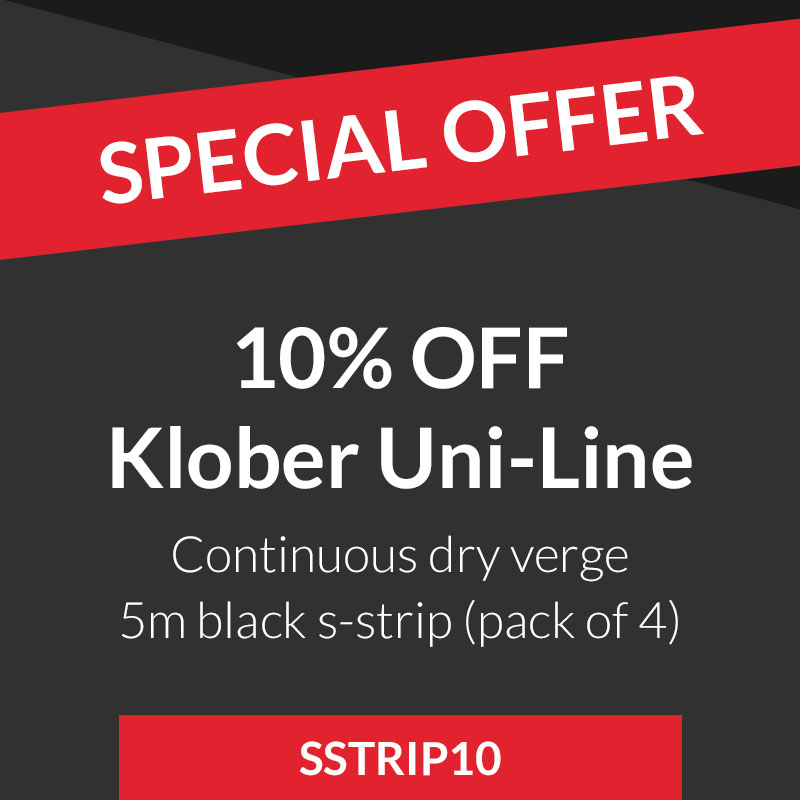 10 Off Klober Black Uni Line Continuous Dry Verge S Strip