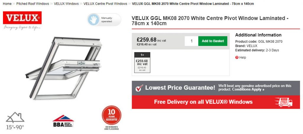 VELUX Window Size Chart - Roofing Superstore Blog on