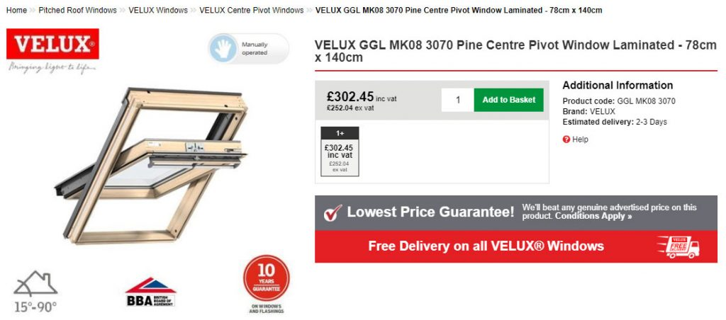 Velux Window Size Chart Roofing Superstore Blog