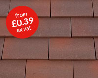 Marley clay plain roof tile – heather blend