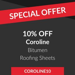 10% off Coroline bitumen roof sheets