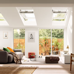 VELUX windows in an extension