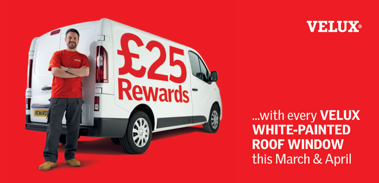 Earn £25 rewards with every VELUX white-painted roof window this March and April