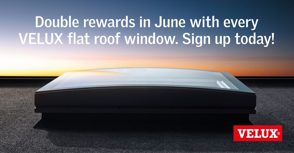 double rewards on velux flat roof windows this june. Black Bedroom Furniture Sets. Home Design Ideas