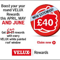 VELUX Rewards this April, May & June 2019