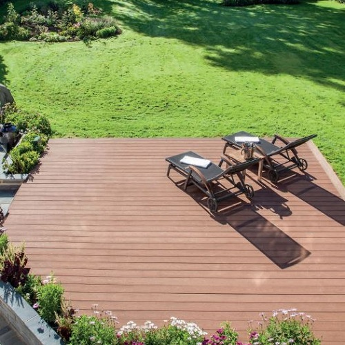 Using decking to level out a sloping garden