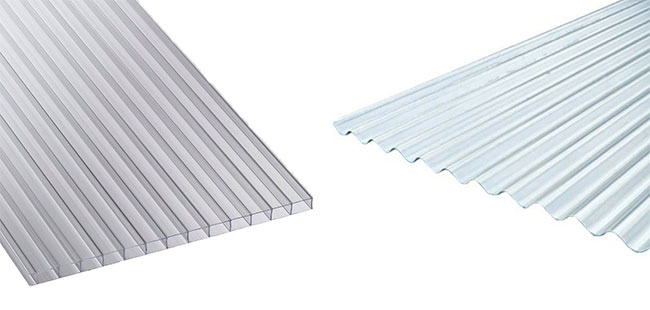 Plastic and metal roof sheets