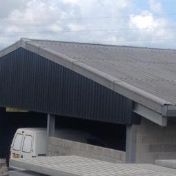 A fibre cement roof