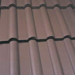 Marley Double Roman Interlocking Concrete Roof Tile - Smooth Brown