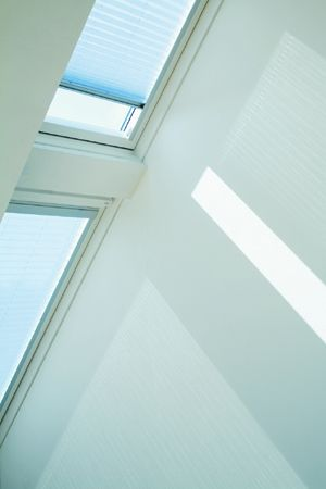 Velux remote controlled electrical roof blind fml s06 for Velux skylight remote control
