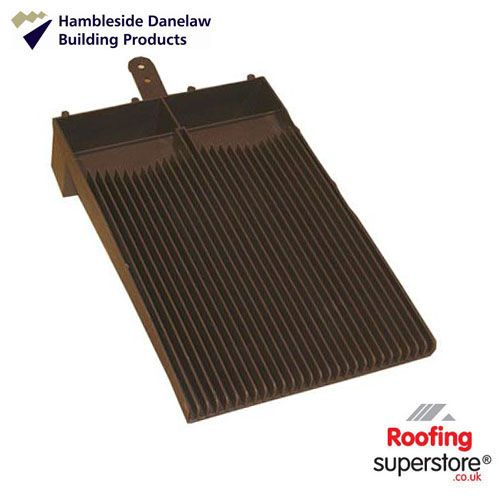 Flush Fit Plain Tile Roof Ventilator - Brown