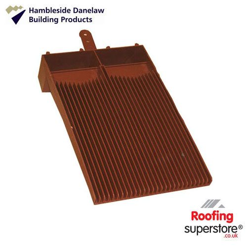 Flush Fit Plain Tile Roof Ventilator - Antique Red
