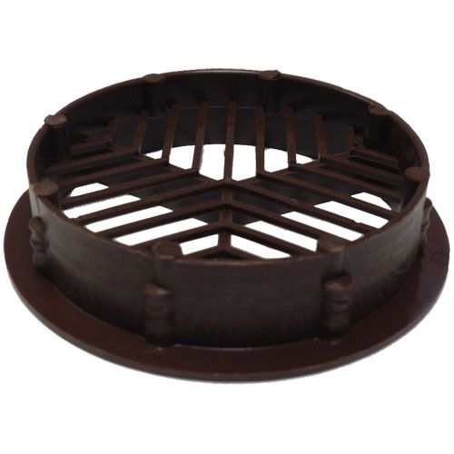 Round / Circular Soffit Vents Brown - Airflow 2500mm2