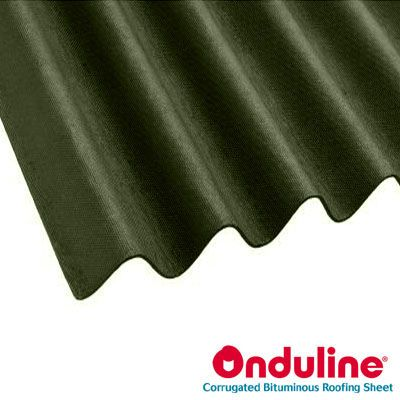 Onduline Corrugated Green Bitumen Roof Sheet 2m X 950mm