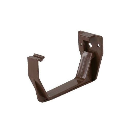 114mm Squarestyle Guttering Fascia Bracket - Brown