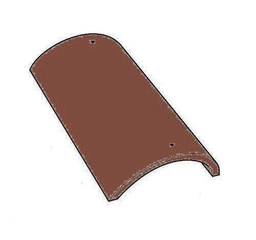 Forticrete Third Round Hip Smooth Brown Roofing
