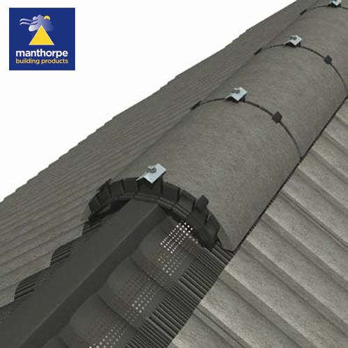 Manthorpe Roll Out Dry Vent Ridge System - Black (6m Pack)