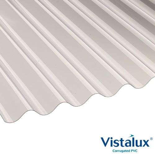 Vistalux Profile 6 Corrugated PVC Roof Sheets Superweight 2.440x1.086m