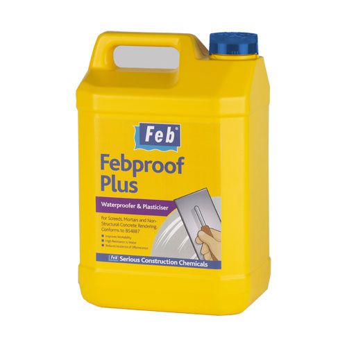 FebProof Plus Waterproof Mortar Plasticiser - 5 Litres
