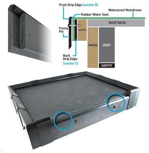 Quicktrim Drip Edge Roof Trim 2 5m Black Roofing