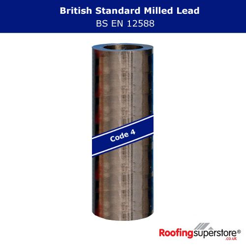 Lead Code 4 - 300mm x 6m Roofing Lead Flashing Roll