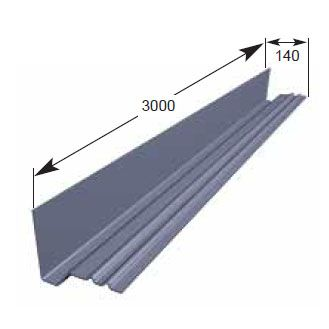 Continuous Grp Dry Soaker Non Lipped 140mm X 3m