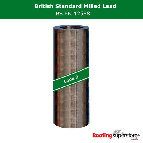 Lead Code 3 - 390mm x 3m Roofing Lead Flashing Roll