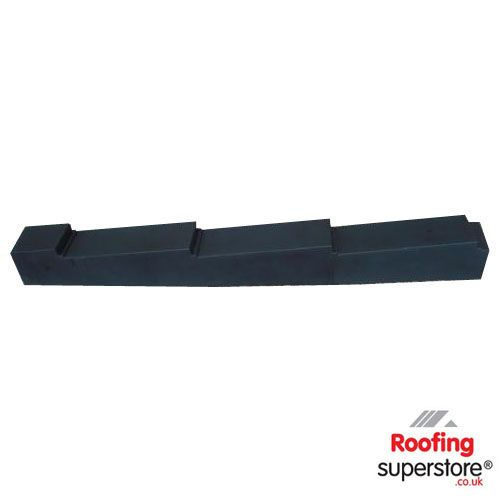 Eco Small Planet Tile Side Flashing (Left Hand) - Black  (Uncoated)