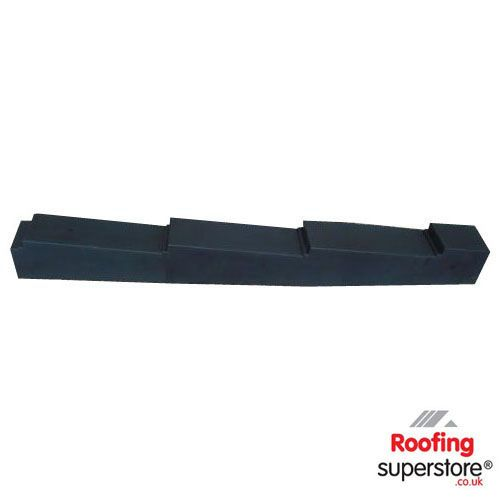 Lightweight Roof Tile Side Flashing Right Hand - Black (Un-granulated)