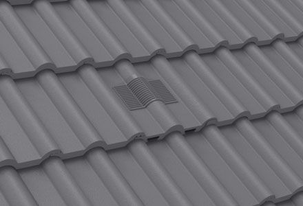Manthorpe Double Roman In Line Roof Tile Vent Grey