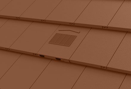 Manthorpe Non Profile In Line Roof Tile Vent Dark Brown