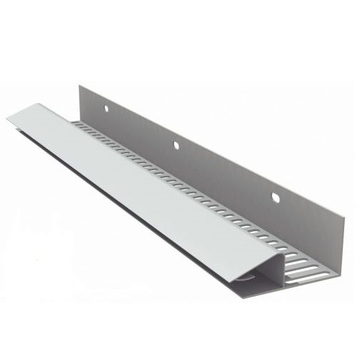 Manthorpe Continuous Soffit Vent 2.44m Black (Airflow 10000mm2/m) 10 Pack