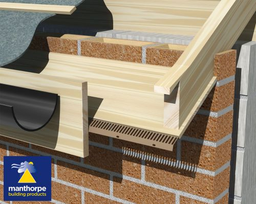 Manthorpe Sloping Soffit Vent ~ 2.44m Brown (Airflow 10000mm2 Per Metre Run) ~ Pack Of 10