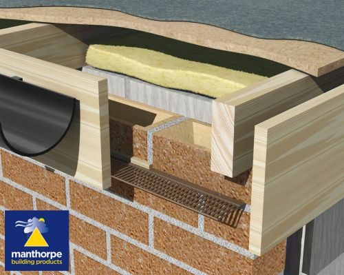 Manthorpe Flat Roof Soffit Vent 25 000mm2 2 44m Brown