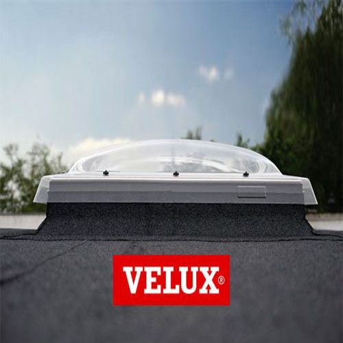 Velux flat roof window opaque fixed dome and kerb 1000mm for Outlet velux