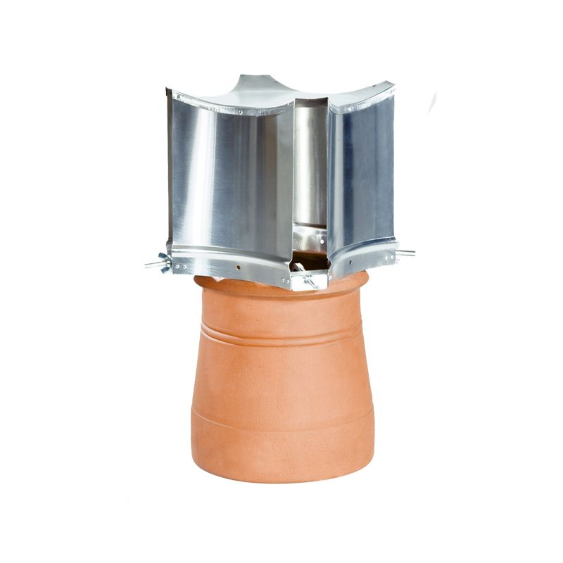 Aerodyne Metal Chimney Cowl Clamp Fix Solid Fuel Natural