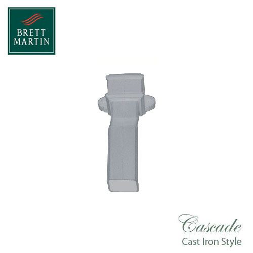 Cascade Cast Iron Style 50mm Plastic Plinth Offset With Lugs - White
