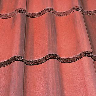 Marley Mendip Roof Tile Old English Dark Red Roofing