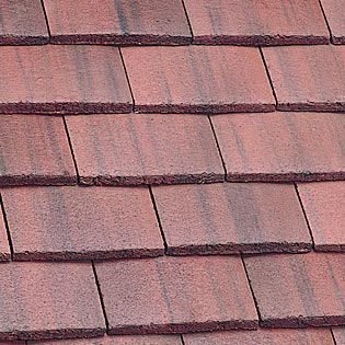 Marley Plain Roof Tile - Old English Dark Red