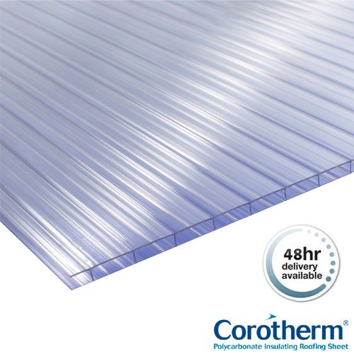 Corotherm 10mm Clear Twinwall Polycarbonate Sheets