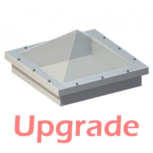 UPGRADE - Em Dome 600mm x 600mm Pyramid Dome