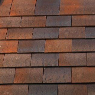 Marley Clay Plain Hawkins Roof Tile Fired Sienna