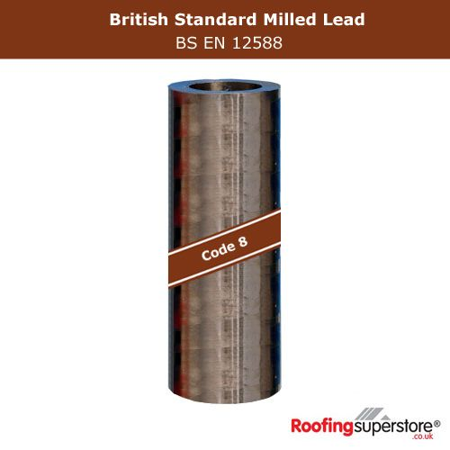 Lead Code 8 - 150mm x 3m Roofing Lead Flashing Roll