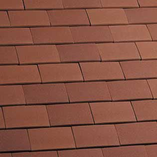 Marley Clay Plain Acme Single Camber Eaves Tile Red