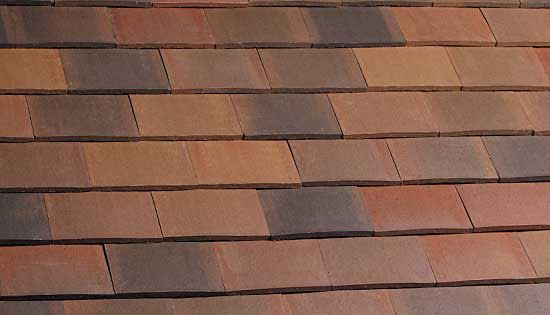 Marley clay plain acme double camber roof tile half for Buy clay roof tiles online